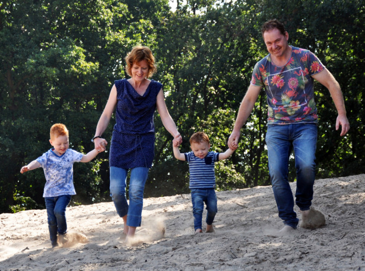 Familie foto op locatie