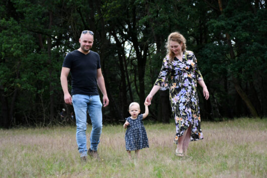 Familie/zwangerschap shoot op locatie.